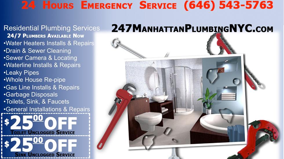 Hudson Yards Plumber 24 7 Manhattan Emergency Plumbing
